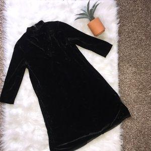 Velvet Black turtleneck 3/4 sleeve Vera Wang dress